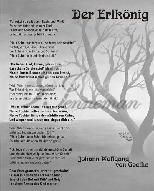 Der Erlkonig - a classic German poem every child learned in school ...