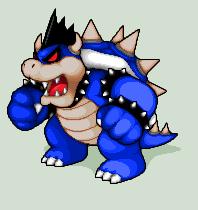 Pixel Art Dark Bowser King Koopa Mario Luigi Bowser