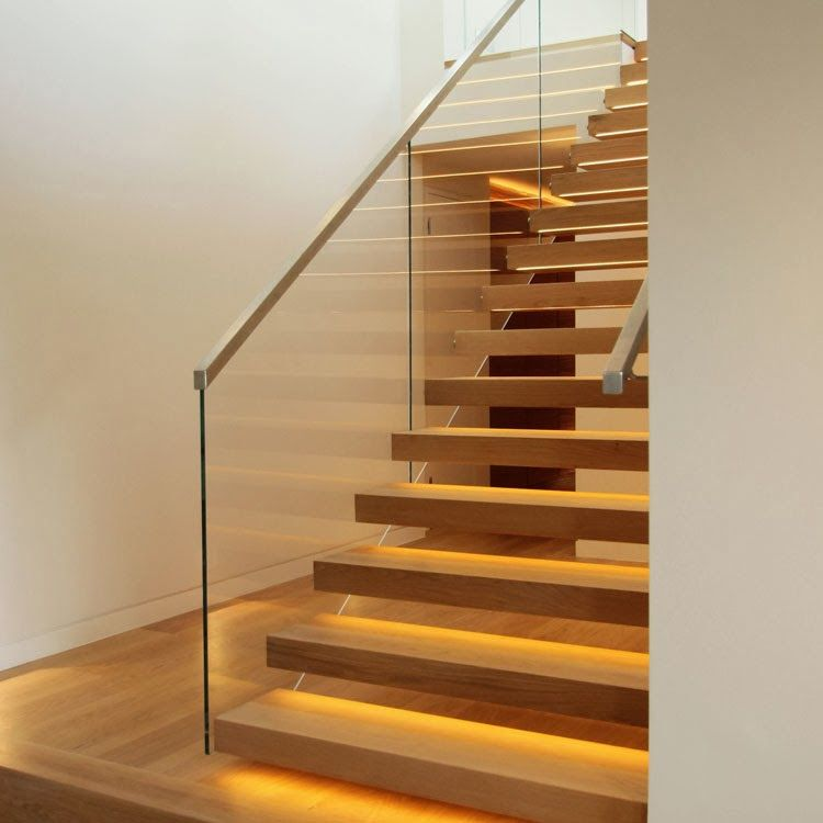 Best Timber Stairs With Glass Balustrade Stainless Steel 640 x 480