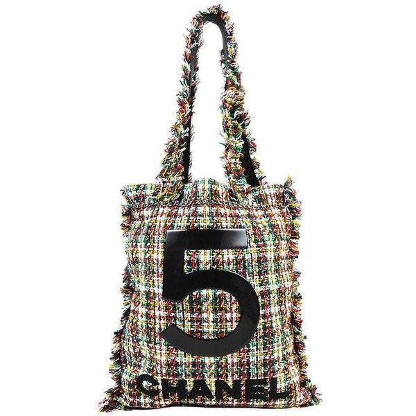 43323a196643 Preowned Chanel Multicolor Plaid Tweed Fringe