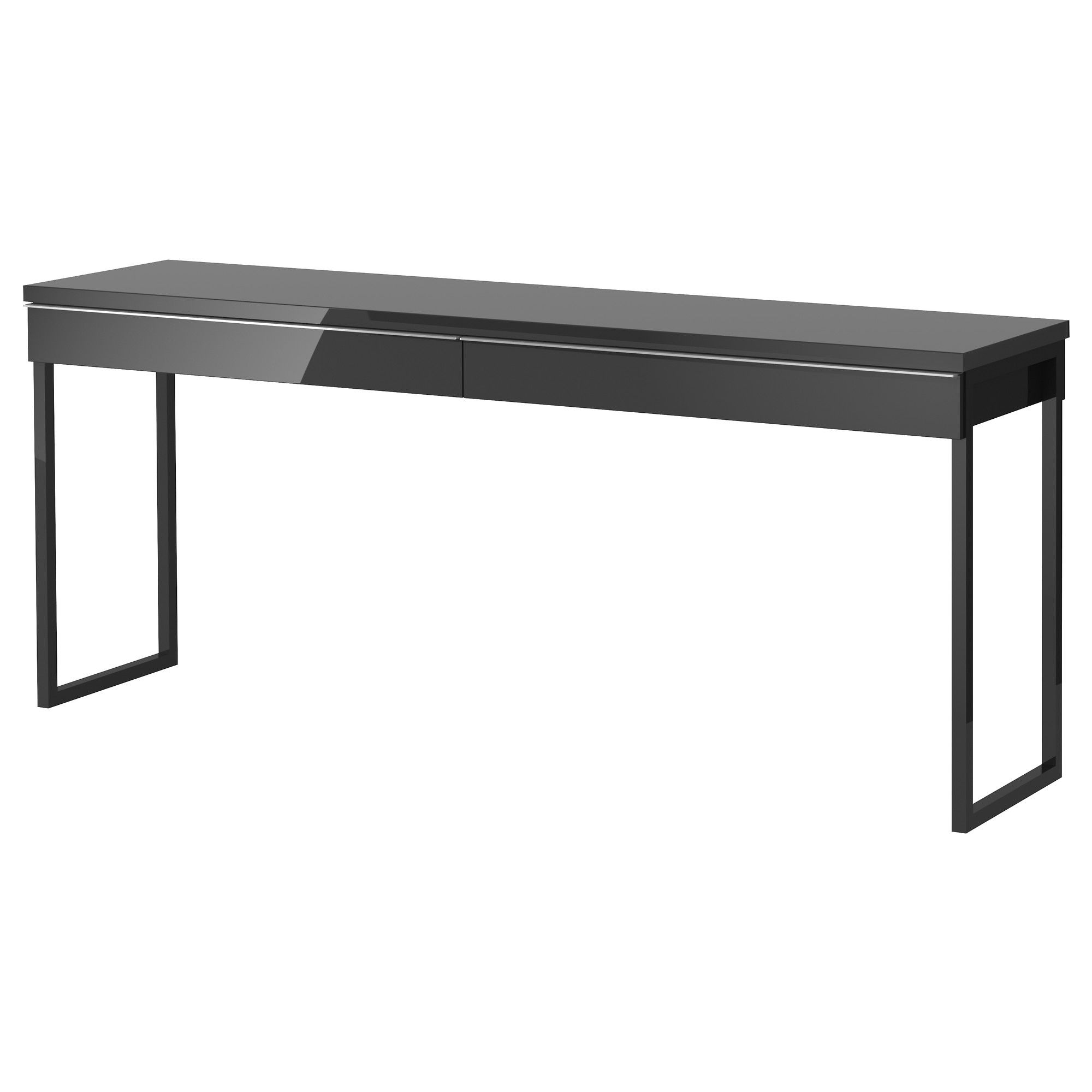 Us Furniture And Home Furnishings Grey Desk Ikea Desk Ikea