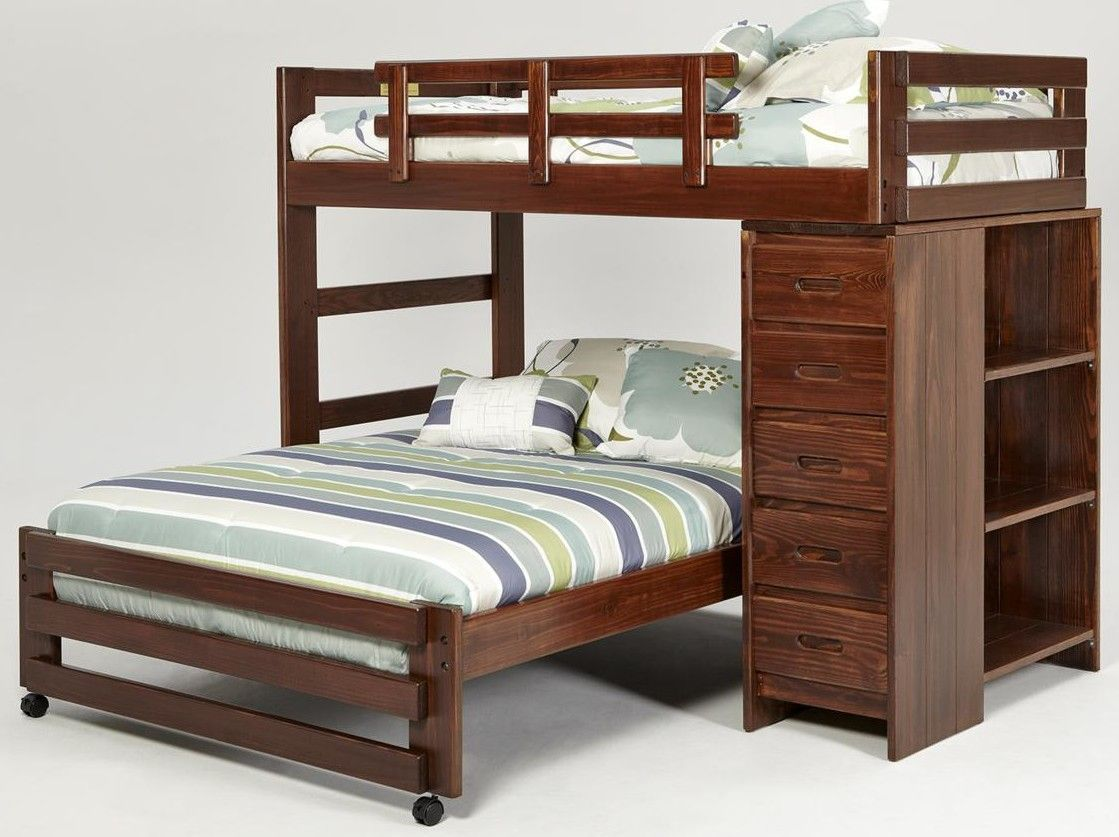 Found it at Wayfair Twin over Full LShaped Bunk Bed