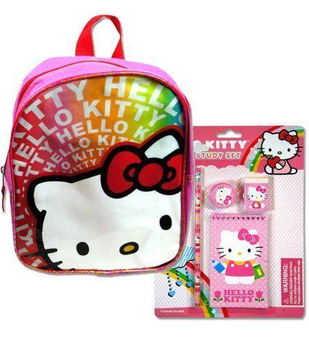 HELLO KITTY Pink   Rainbow PVC 10 1 2