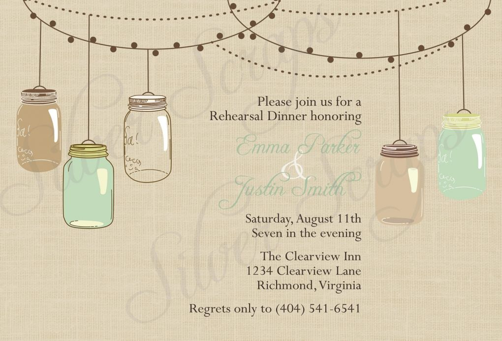 Rehearsal Dinner Invitation Templates Free