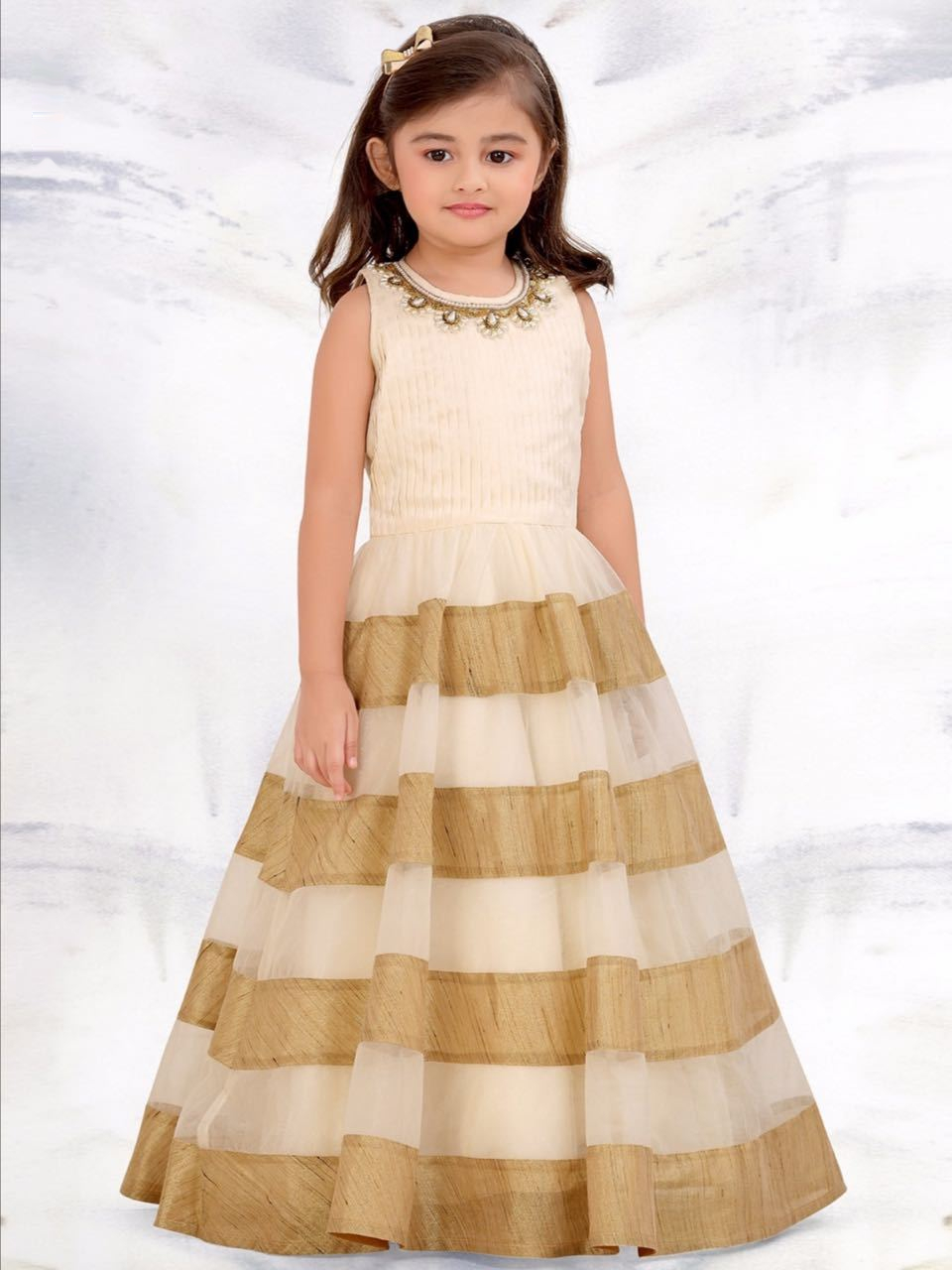 bb27c20ba Banglory Silk Long Gown for Kids in 2019