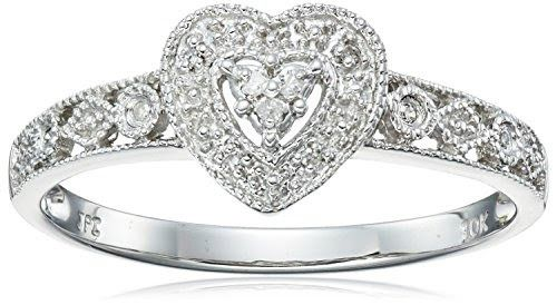Diamond Heart Ring (0.04 cttw, I-J Color, I2-I3 Clarity)