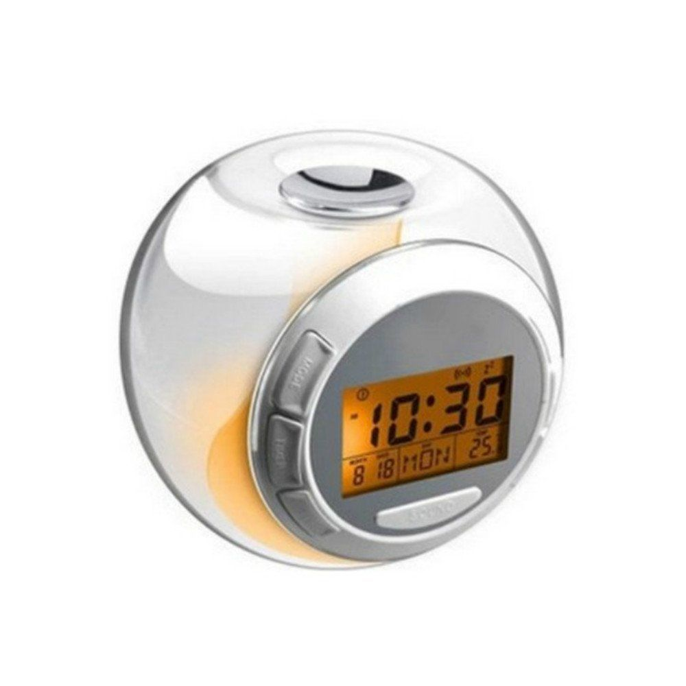 LED Wall Projection Portable Mini Projection Clocks for Rooms Travel Camping