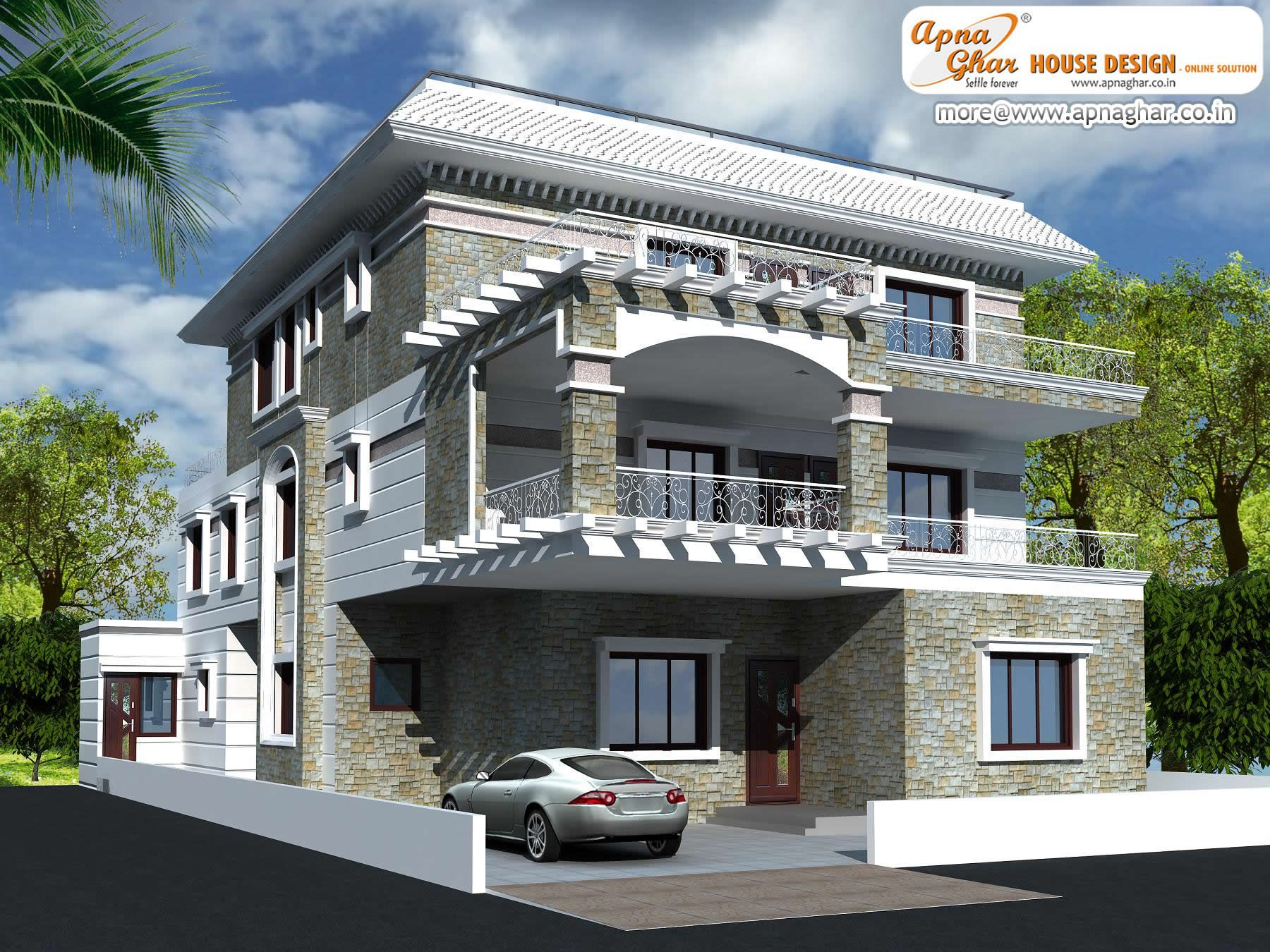 Modern bungalow house design in 360m2 15m x 24m http Modern bungalow plans