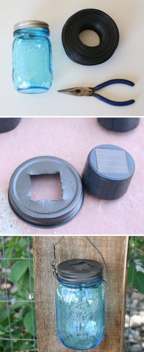 Mason jar solar light crafts tips and diy pinterest for Solar lights for craft projects