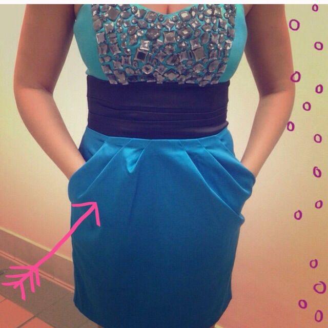 Bebe Jeweled Strapless Dress