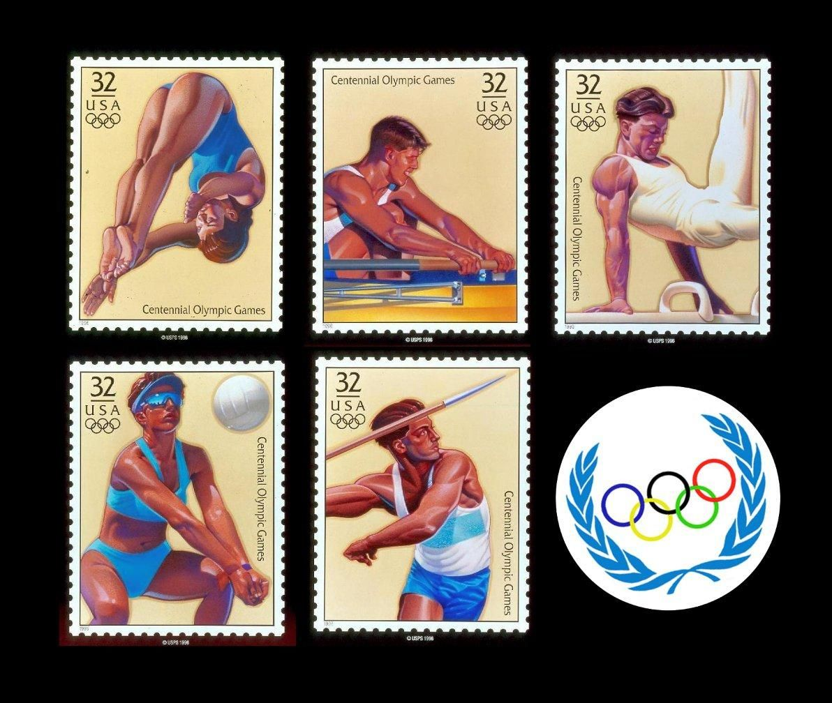 Olympic Stamp Illustrations by Richard Waldrep (www