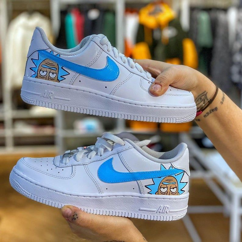 RICK and MORTY SHOE Hand Painted Custom Sneakers Nike Air