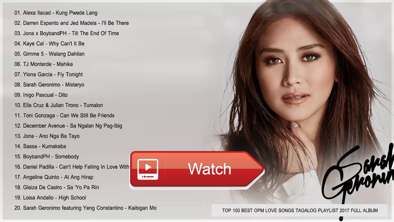 Tagalog acoustic love songs list