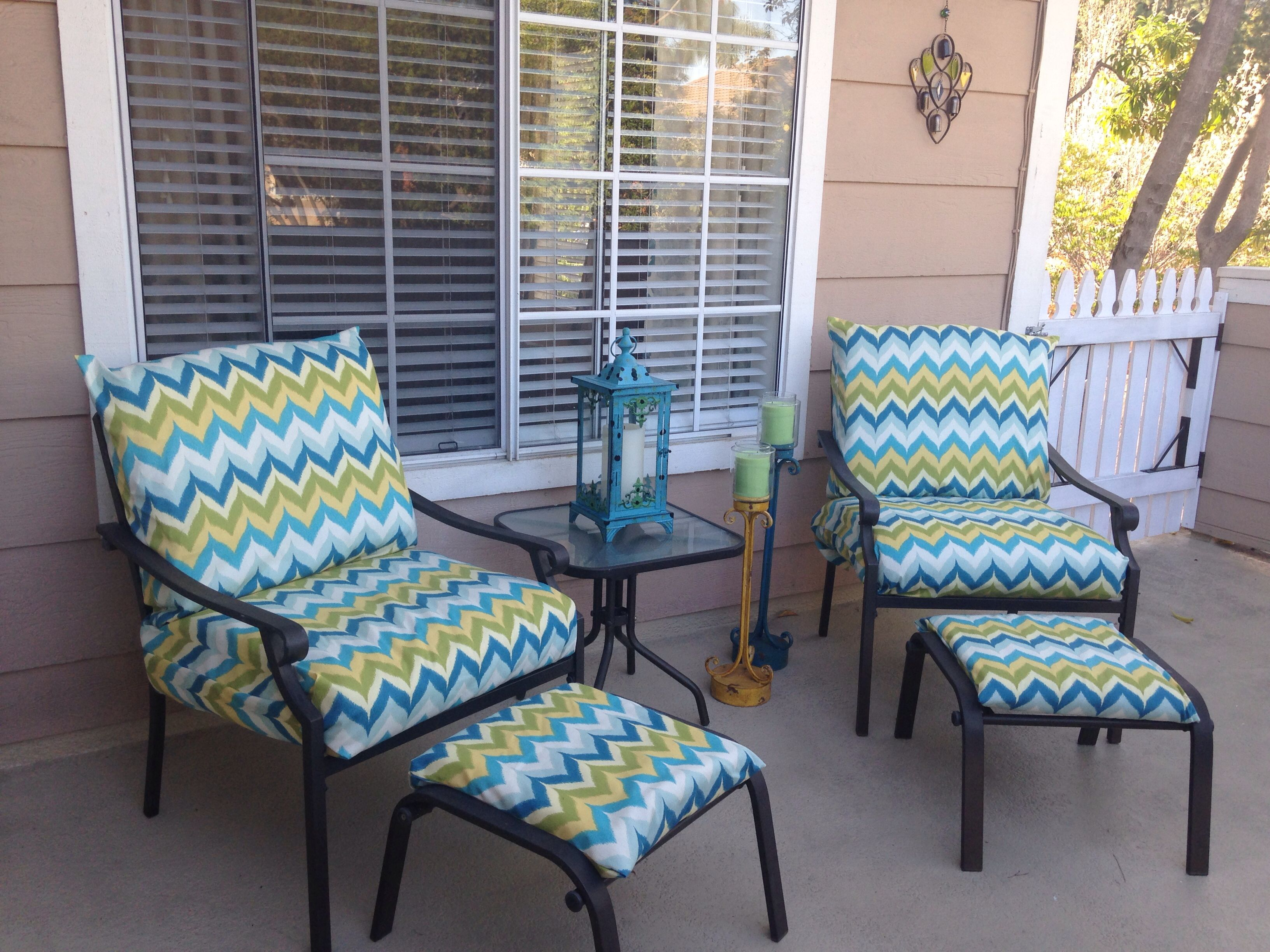 Small Patio Ideas -upholstered Chairs And