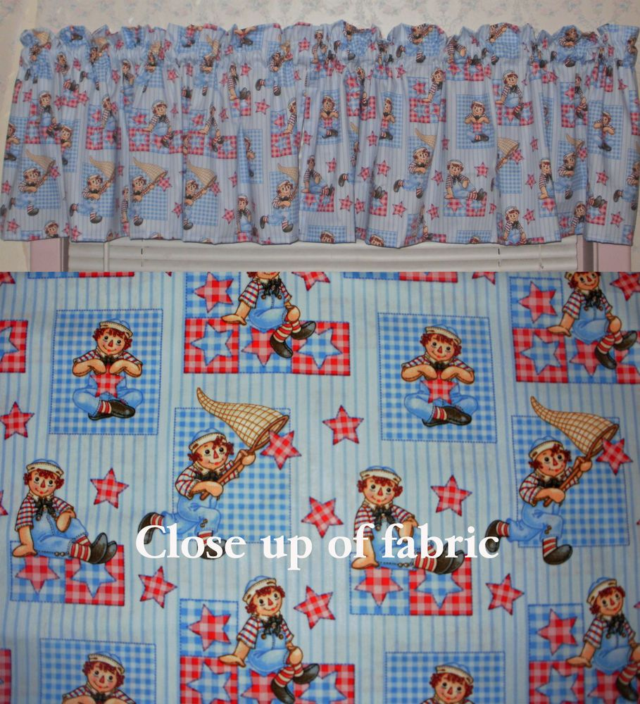 New Raggedy Ann Andy Window Cover Valances Curtains #Handmade ...