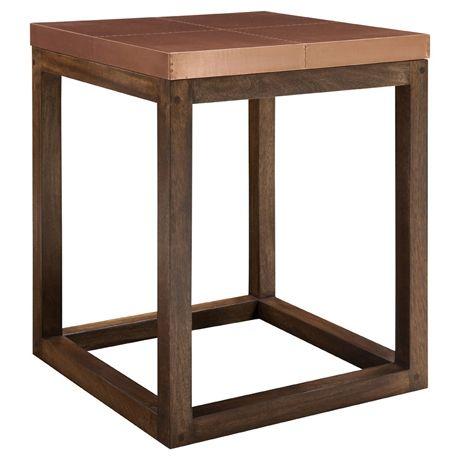 The Professor Square Side Table Copper Furnishings Pinterest - Square copper coffee table