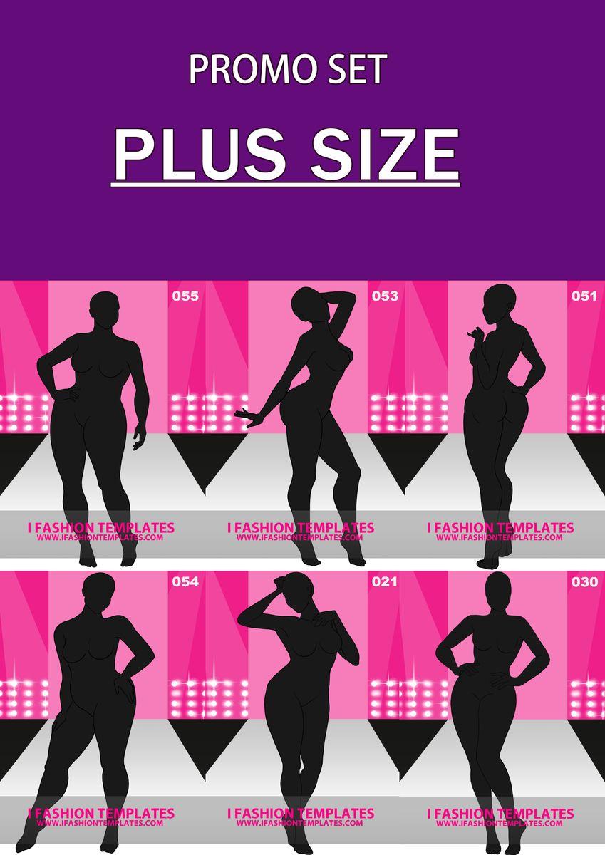 Plus Size Fashion Croquis Art Fashion Templates