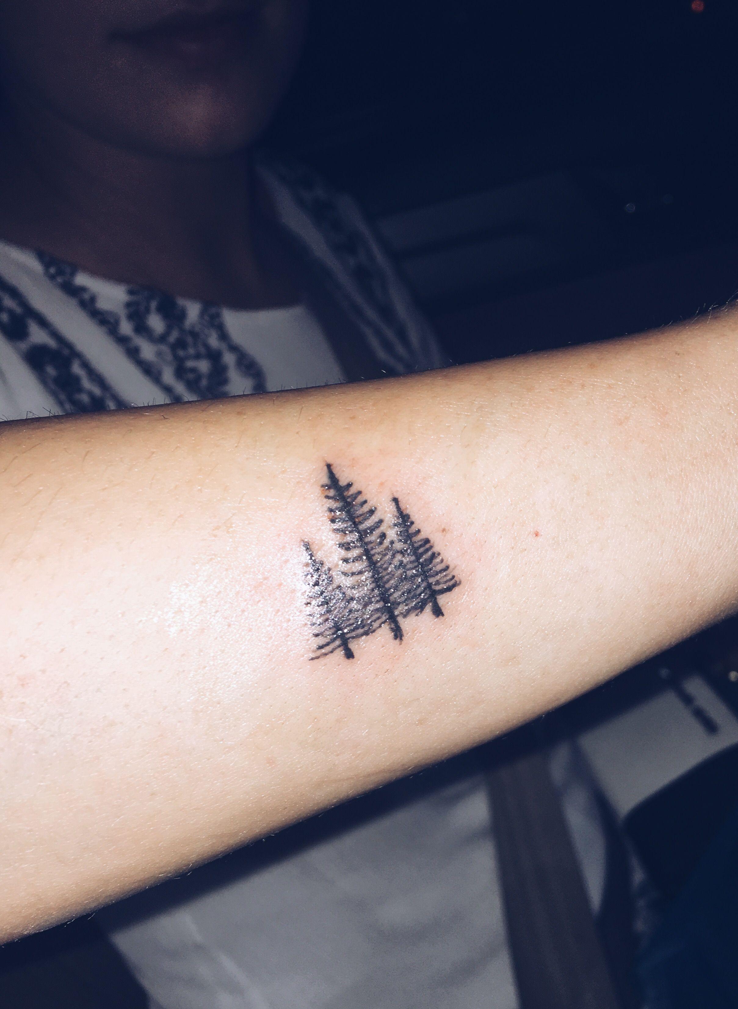 Christmas Tree Tattoo Small.Pin By Jenny On Permanent Ink Pine Tree Tattoo