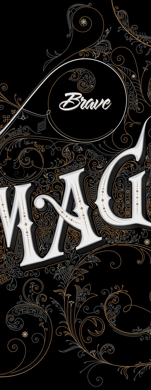 An Incredibly Detailed & Ravishing Sign Inspired By 19th Century Typography - DesignTAXI.com