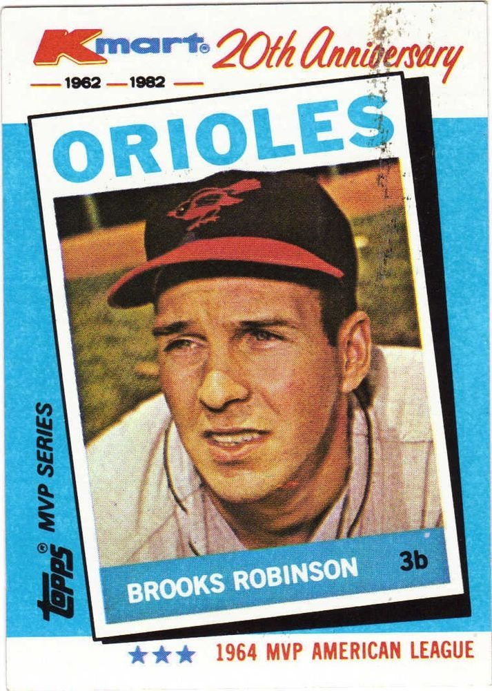 Brooks Robinson Topps 5 Of 44 Kmart 20th Anniversary 1982 Baseball