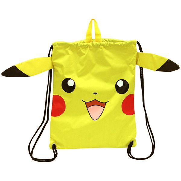 1ba9d6b52f7d Pokémon Pokémon Pikachu Drawstring Cinch Bag ( 12) ❤ liked on Polyvore  featuring bags