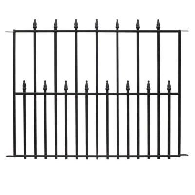 Vigoro Empire 30 In X 36 In Black Steel Fence Panel 4 Pack In 2020 Metal Fence Panels Steel Fence Panels Fence Panels