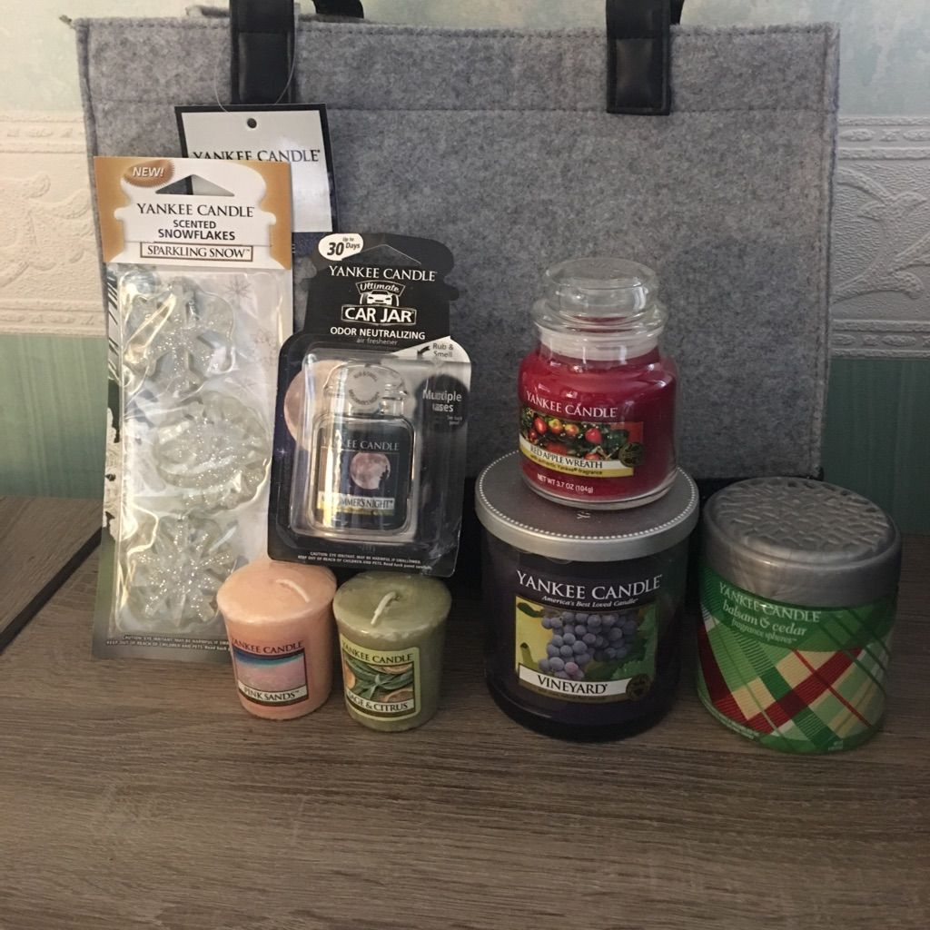 Nwt yankee candle bag set products pinterest products