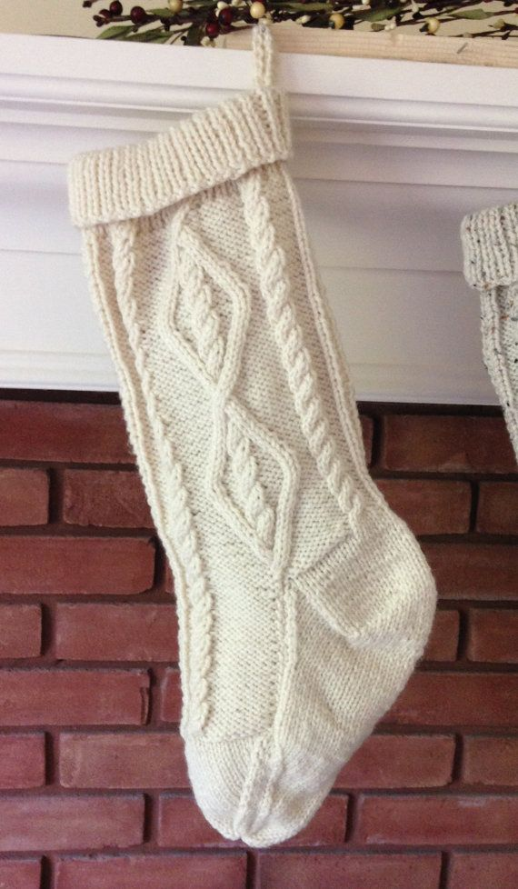 Cable Knit Stocking Pattern Fisherman Knit Christmas Stocking