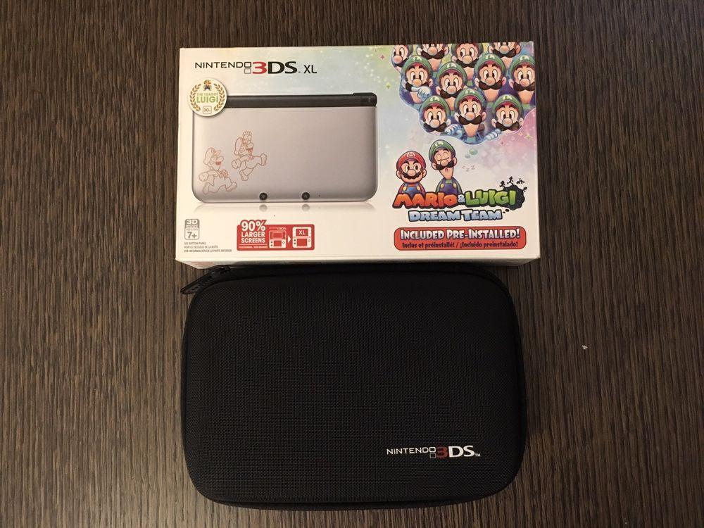 Nintendo 3ds Xl Silver Mario Luigi Dream Team Limited Edition
