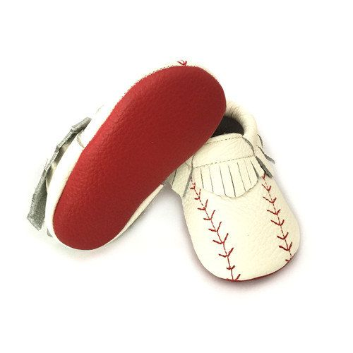 Baseball Moccasins, Baseball Baby Shoes