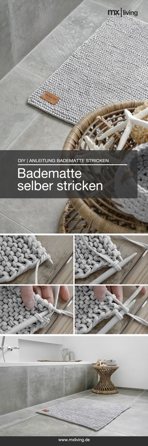 DIY | Badematte stricken - mxliving