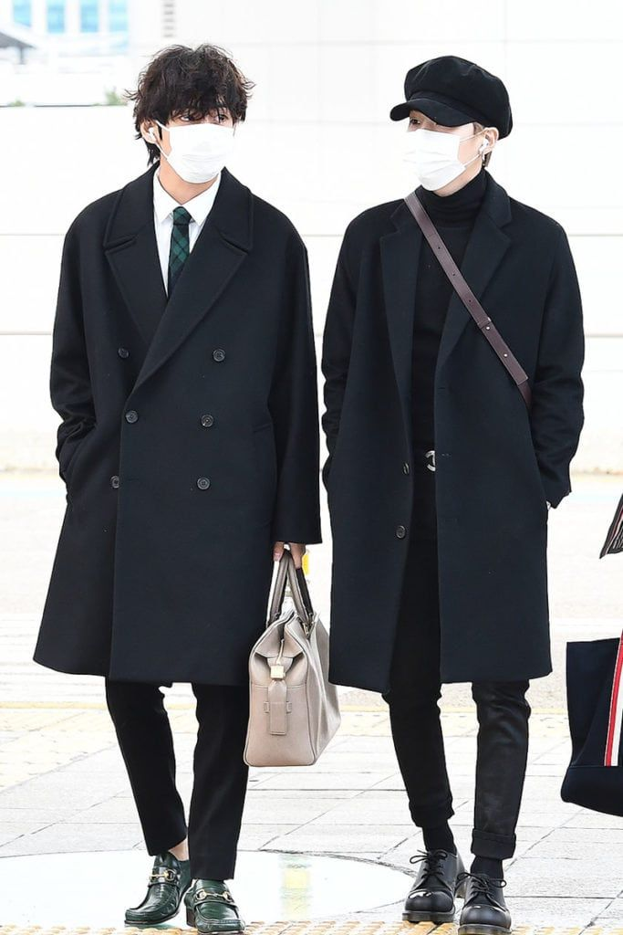 Bts S Airport Fashion Just Keeps Getting Better Bts Airport Jimin Airport Fashion Airport Style