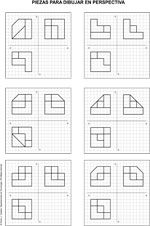 Dibujo Tecnico Realizar Pieza Isometrica A Partir Vistas Diedricas Tecnicas De Dibujo Vistas Dibujo Tecnico Ejercicios De Dibujo