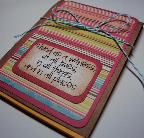secret sister idea-- for taking notes, writing prayer ...