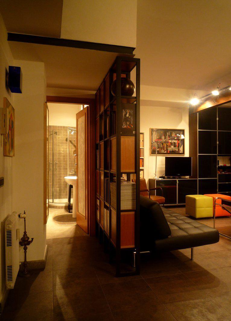Mobiliario libreroudmuro divisorio divisiones pinterest lofts