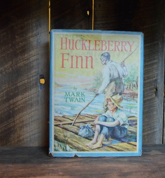 Huckleberry Finn; Mark Twain; 1942; Childrens Book; Classic Book; Huckleberry Vintage