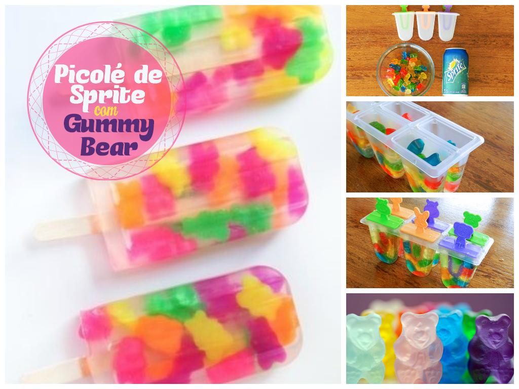 Picolé de Sprite com Gummy Bear