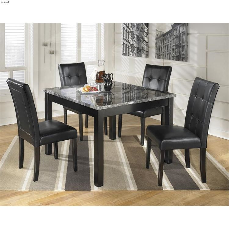 Ashley Maysville D154 5pc Square Dining Set Marble Top Dining Table Cheap Dining Room Sets Square Dining Table Set