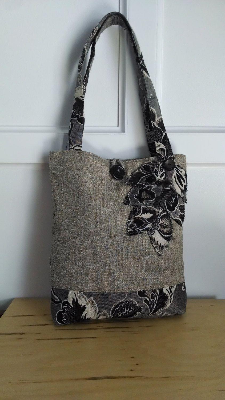 schwarze Tasche braun-Geldbörse floral von BerkshireCollections ...