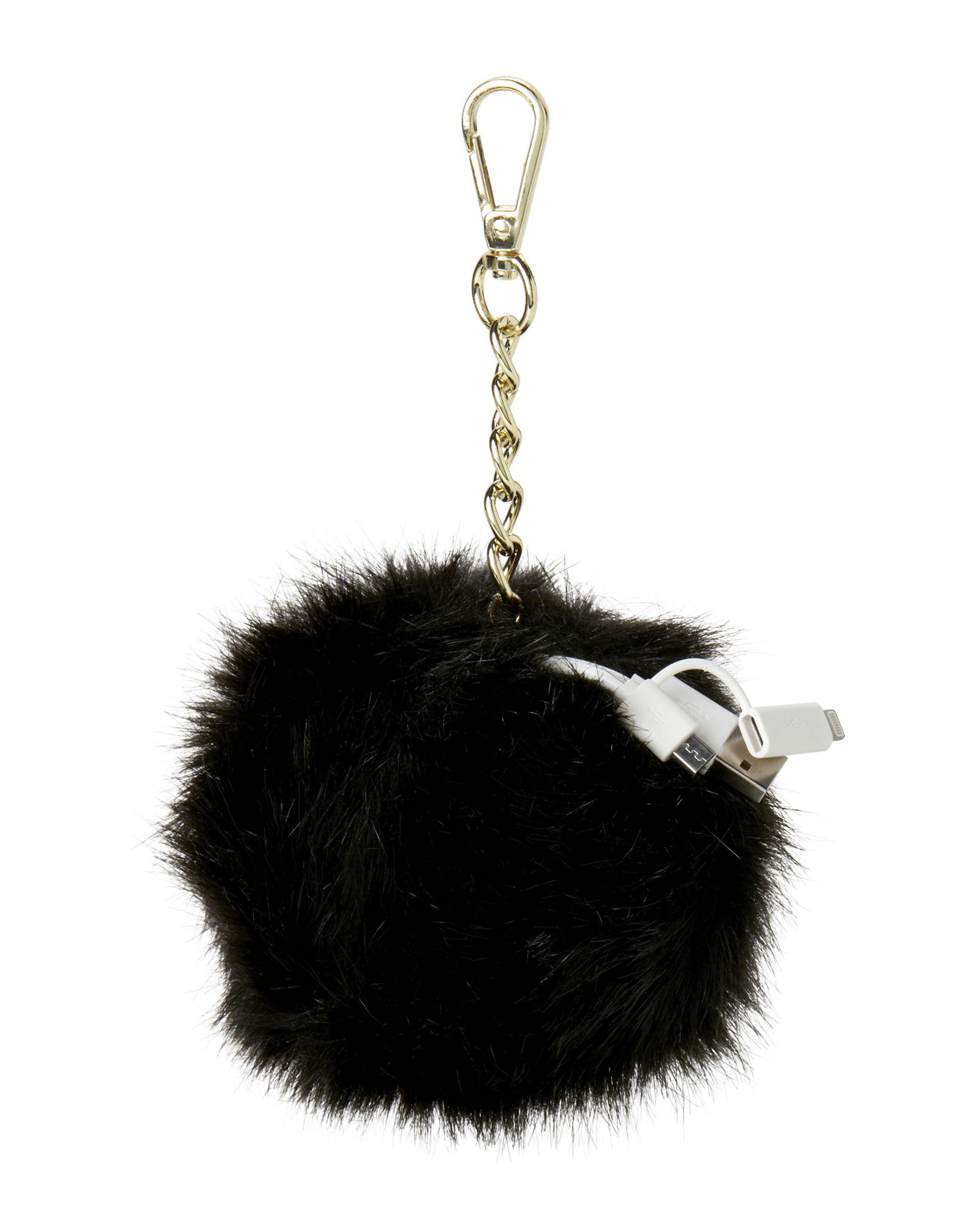 fabb0bb5eda6 Jade   Deer Black Pom-Pom Bag Charm Portable Charger