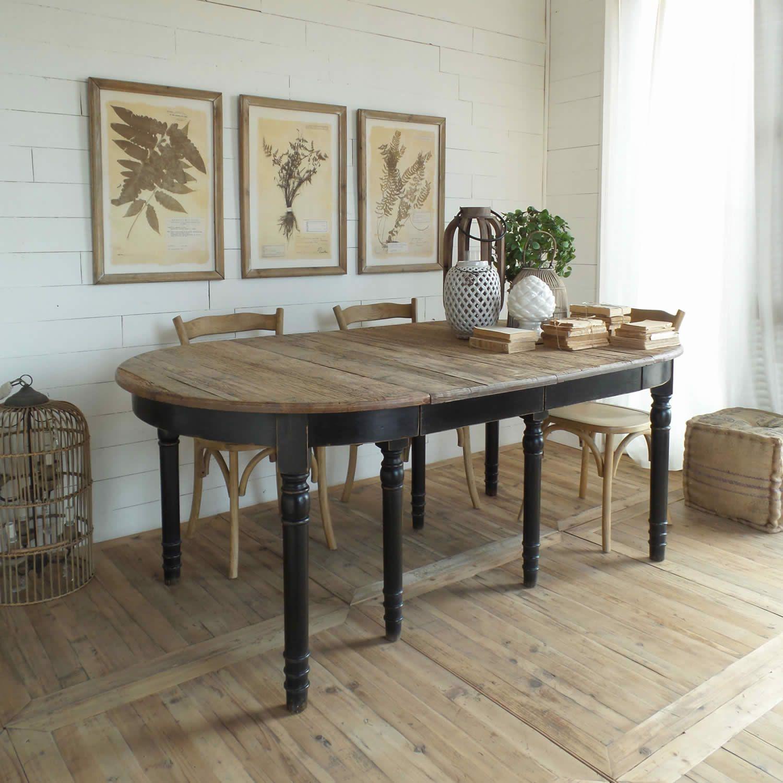 Acquista Online Il Tavolo Ovale Allungabile New Vintage Black Di Orchidea Mobile Stile Shabby In Legno Di Tavolo Idee Per Decorare La Casa Idea Di Decorazione