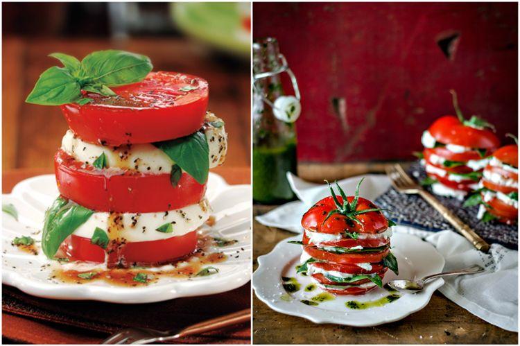 5 Ideen Wie Man Einen Tomate Mozzarella Salat Schon Anrichten Kann Pesto Mozzarellaspiesse Capres Tomaten Mozzarella Salat Tomate Mozzarella Mozzarella Salat
