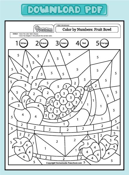 Farbe Nach Anzahl Obstschale Matematik In 2020 Malen Nach Zahlen Kinder Arbeitsblatter Kindergarten Arbeitsblatt Fur Kinder Im Vorschulalter