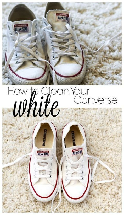 b235cae3d8de How to Clean Your White Converse