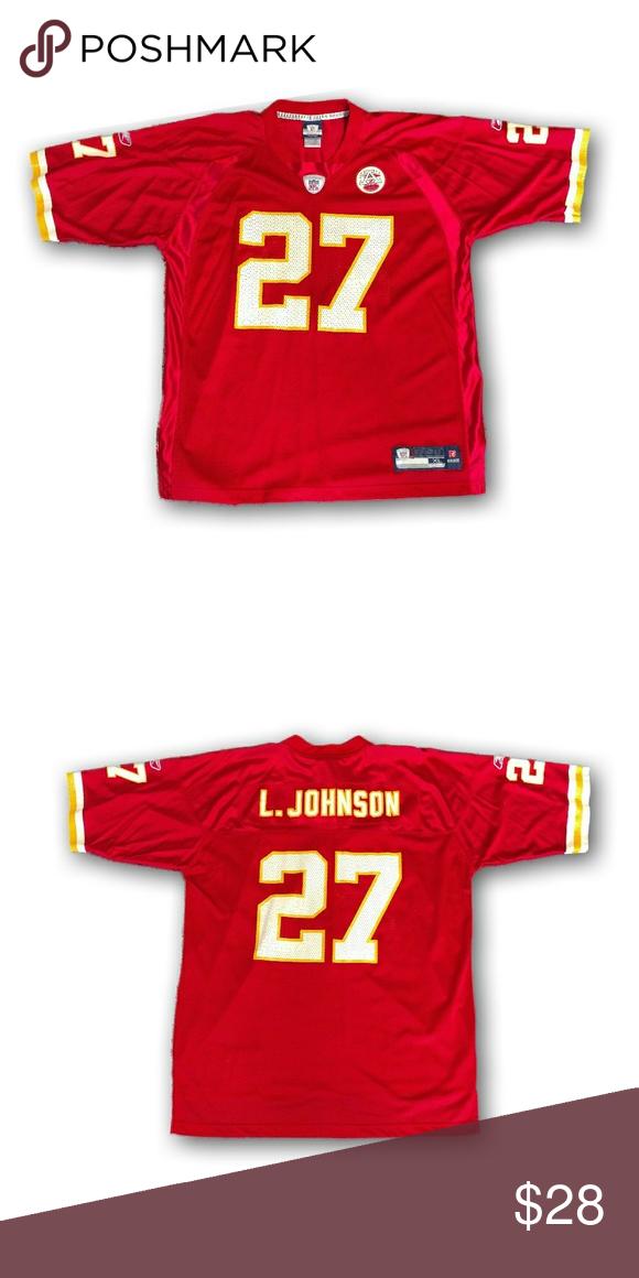 newest collection b3887 8d172 Vintage KC Chiefs Larry Johnson Jersey Vintage KC Chiefs ...