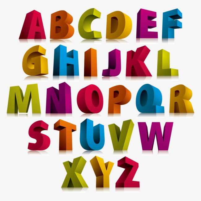 Color 3d Stereoscopic Letter Letters Wordart Vector Color Vector Png Transparent Clipart Image And Psd File For Free Download Lettering Alphabet Lettering Lettering Alphabet Fonts