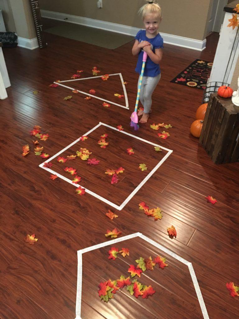 Fall Leaves-Gross Motor Learning Activity - . | Fall ...