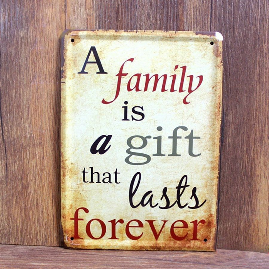 A family is a gift last forever