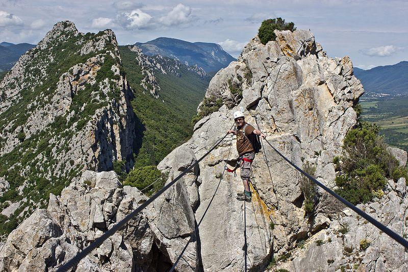 Rock climbing - la grimpe - in Languedoc, France