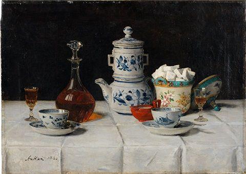 Albert Anker: Albert Anker, Stillleben: Kaffee, 1882